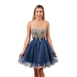 EJS Couture Strapless A-line Dress