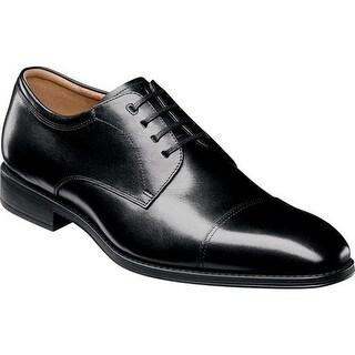 Florsheim Men's Amelio Cap Toe Oxford Black Leather