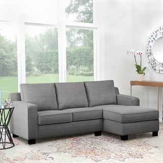 Link to Abbyson Beverly Fabric Reversible Sectional Similar Items in Living Room Furniture