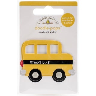 Doodlebug Doodle-Pops 3D Stickers-School Little Bus