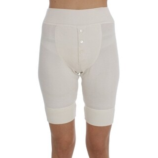 Dolce & Gabbana White Ribbed Wool Underwear Shorts - it40-s