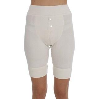 Dolce & Gabbana Dolce & Gabbana White Ribbed Wool Underwear Shorts - it40-s