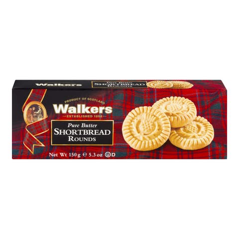 Walkers Shortbread - Pure Butter, Round - Case of 12 - 5.3 oz.