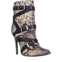 Guess Parley Pointed Toe Ankle Boots, Natural Multi