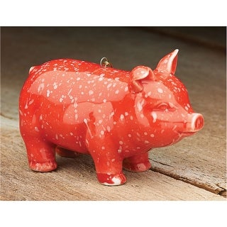Prosperity Pig Ornament - Hanging Tree Ornament Holiday Decoration