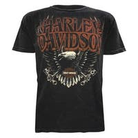 Harley-Davidson Men's Muted Eagle Premium Short Sleeve T-Shirt, Black Wash