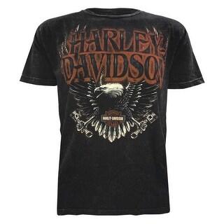 Harley-Davidson Men's Muted Eagle Premium Short Sleeve T-Shirt, Black Wash (5 options available)