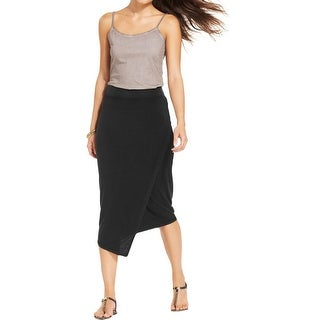 DKNY Jeans Womens Juniors Maxi Skirt Jersey Asymmetric