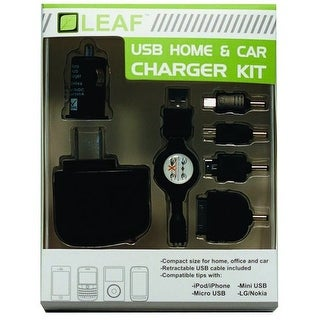 LEAF USB Home and Car Charger Set MICRO