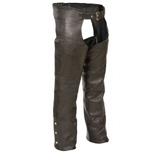 Mens Fully Lined Classic Leather Chaps