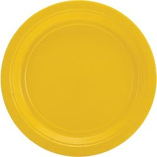 "Sunshine Yellow - Big Party Pack Dinner Plates 9"" 50/Pkg"