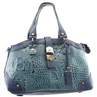 Madi Claire Arielle Women Leather Blue Satchel