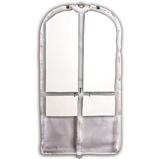 "Danshuz Girls White Trim Pockets Clear Competition Garment Bag 37""x 20""x 3"" - One size"