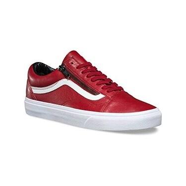 Vans Old Skool Zip Men US 13 Red Sneakers