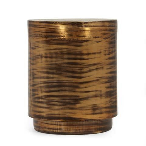 """Hamlin Boho Handcrafted Drum Side Table by Christopher Knight Home - 16.00"""" L x 16.00"""" W x 19.50"""" H"""