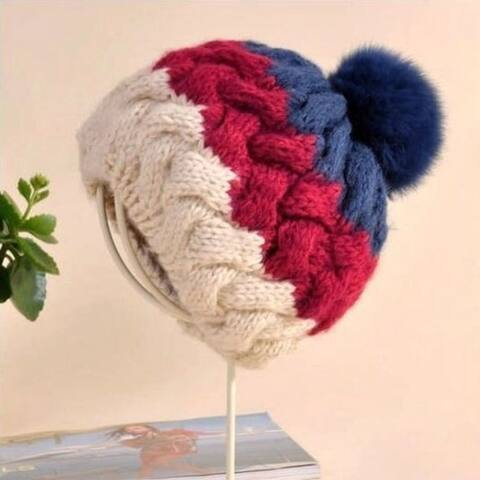 Korean Fashion New Wool Hat Earmuffs Knit Cap