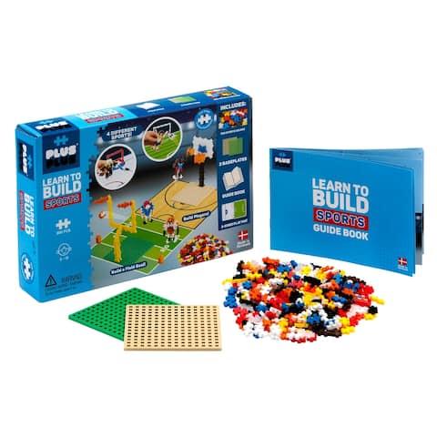 Plus-Plus - Learn to Build, Sports Construction Building Set (STEM)