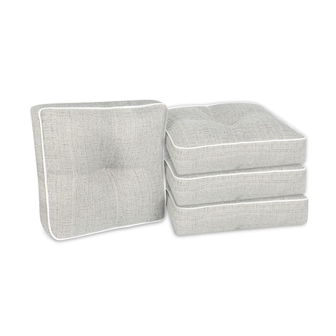 Outdoor/ Indoor 4-Piece Wicker Seat Cushion Set for Patio Furniture