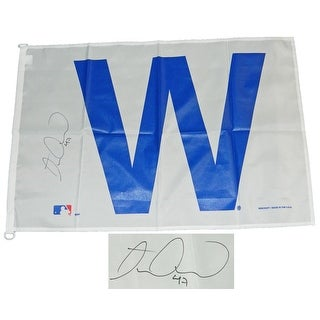 Miguel Montero Signed Chicago Cubs 27x37 White W Flag