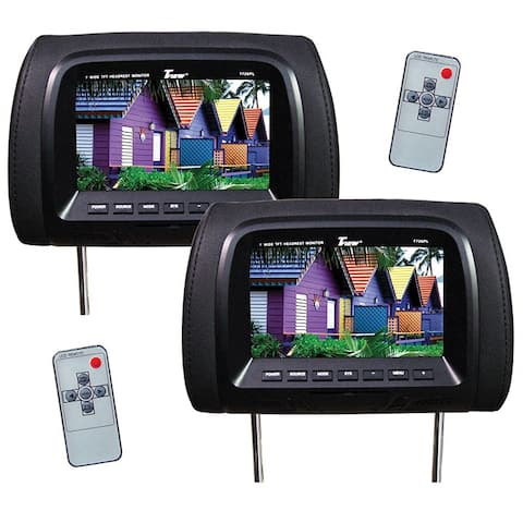 Tview t726pl-bk tview 7 tft/lcd car headrest and monitorpair black