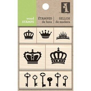 Inkadinkado Mounted Stamp Set-Crown