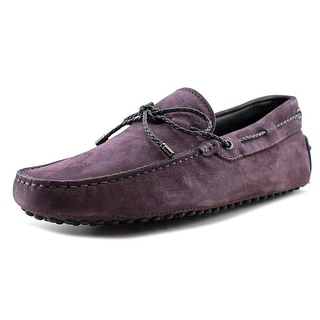 Tod's Laccetto My Colors New Gommini 122 Youth Moc Toe Suede Purple Loafer