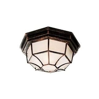 Trans Globe Lighting 40582 Wagon Wheel 1 Light Outdoor Flush Mount Ceiling Fixture