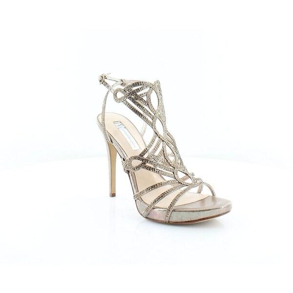 INC International Concepts Womens Surrie Open Toe Ankle Strap - lt bronze