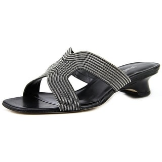 Vaneli Beyla Women Open Toe Leather Slides Sandal