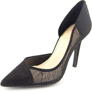 Jessica Simpson Cavilla Women Pointed Toe Canvas Heels