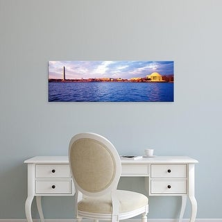 Easy Art Prints Panoramic Images's 'Tidal Basin, Washington DC, District Of Columbia, USA' Premium Canvas Art