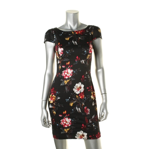French Connection Womens Formal Dress Floral Print Sheath - 2