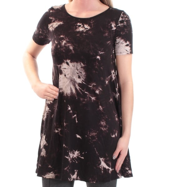 10052a4cae3 Shop ONE CLOTHING Womens Black Tie Dye Short Sleeve Crew Neck Tunic Top  Size: XS - On Sale - Free Shipping On Orders Over $45 - Overstock - 21723920