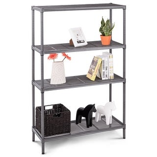 Gymax 59'' 4 Tier Storage Shelf Rack Steel Mesh Organization Home Kitchen Heavy Duty