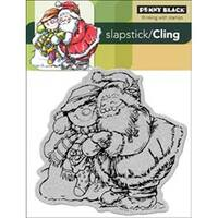 """Holiday Hug - Penny Black Cling Rubber Stamp 4""""X5.25"""" Sheet"""
