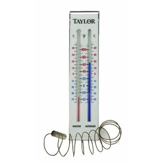 "Taylor 5327 Indoor & Outdoor Wall Thermometer, 9"" x 2-1/2"""