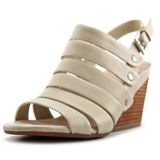 Naya Lassie Open Toe Leather Wedge Sandal