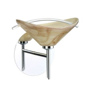 Besa Lighting 1SW-181305 Hoppi 1 Light Halogen Bathroom Sconce with Mocha / Clear Glass Shade