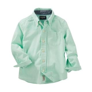 OshKosh B'gosh Little Boys' Striped Button Shirt, 3-Toddler