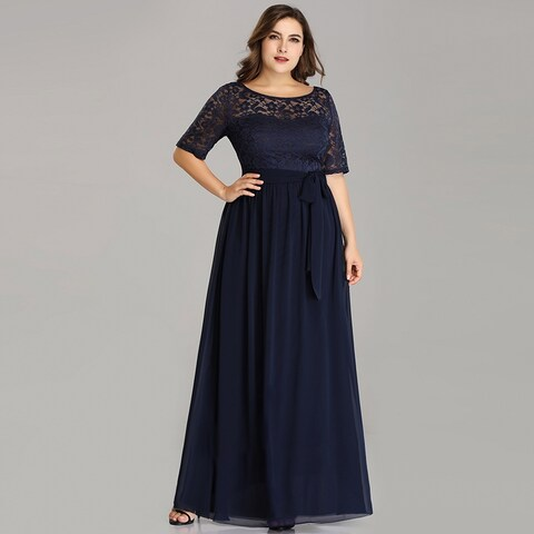 Ever-Pretty Women's Plus Size Lace Mother of the Bride Evening Party Maxi Dress 07624
