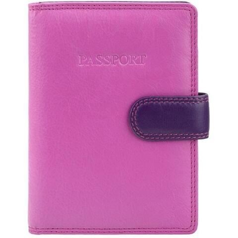 "Visconti 75 Passport Wallet (Multi Color BERRY) - 4.0"" x 5.5"""