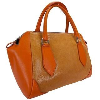 HS 5198-56 AR SASHA Orange Structured Sacthel/ Shoulder Bag