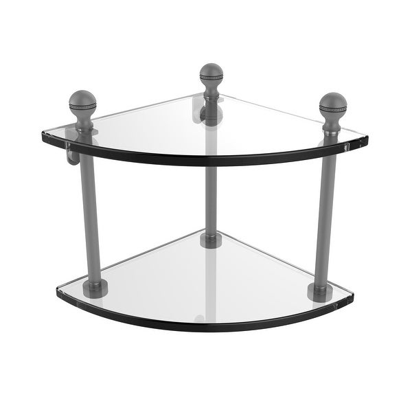 Allied Brass Mambo Collection 2 Tier Corner Glass Shelf