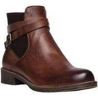 Propet Women's Tatum Bootie Brown Full Grain Leather