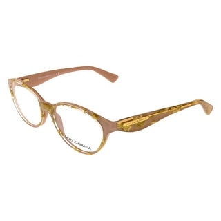 Dolce&Gabbana DG3173 2749 (51) Leaf Gold Rose Oval Opticals