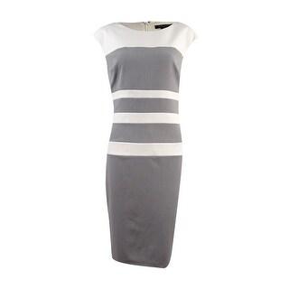 Lauren Ralph Lauren Women's Horizontal Colorblocked Dress