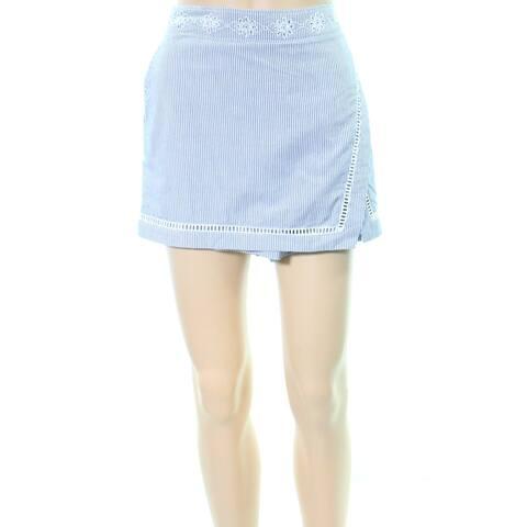 Vineyard Vines Blue Womens Size 10 Striped Eyelet Trim Skorts