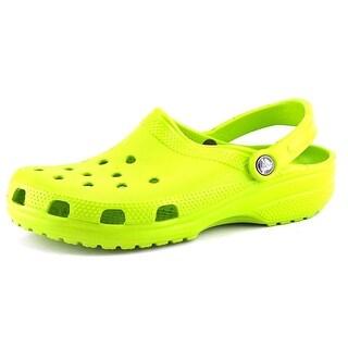 Crocs Classic Men Round Toe Synthetic Green Clogs