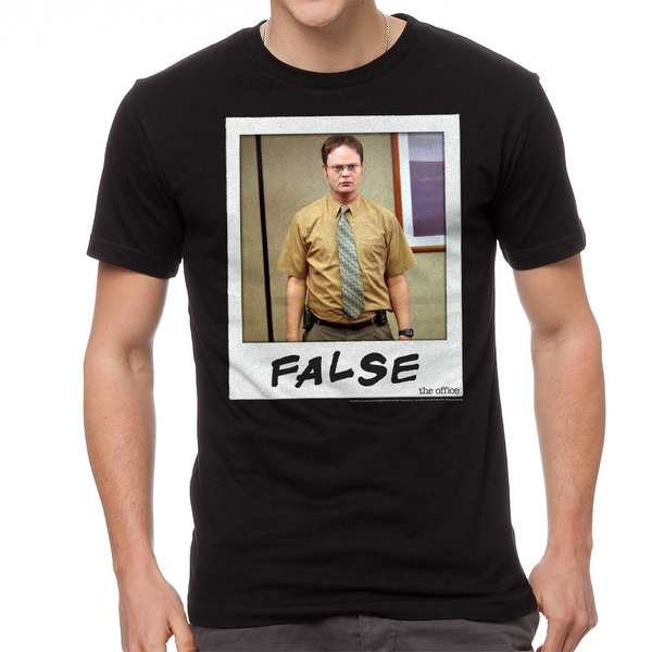 577348d64 Shop The Office Dwight Schrute False Instant Graphic Men's Black T-shirt -  Free Shipping On Orders Over $45 - Overstock - 19855554