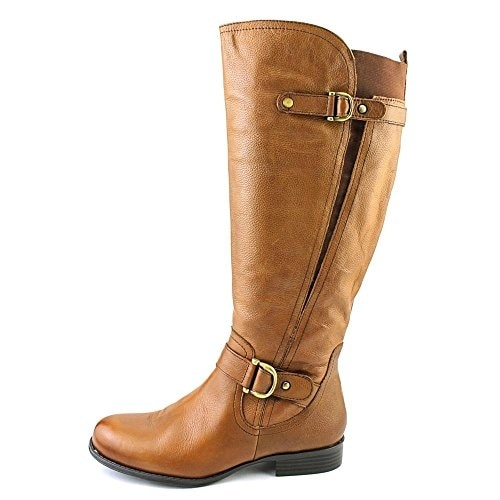 Naturalizer Womens Jersey (Wide Calf) Leather Closed Toe Mid-Calf Riding Boots